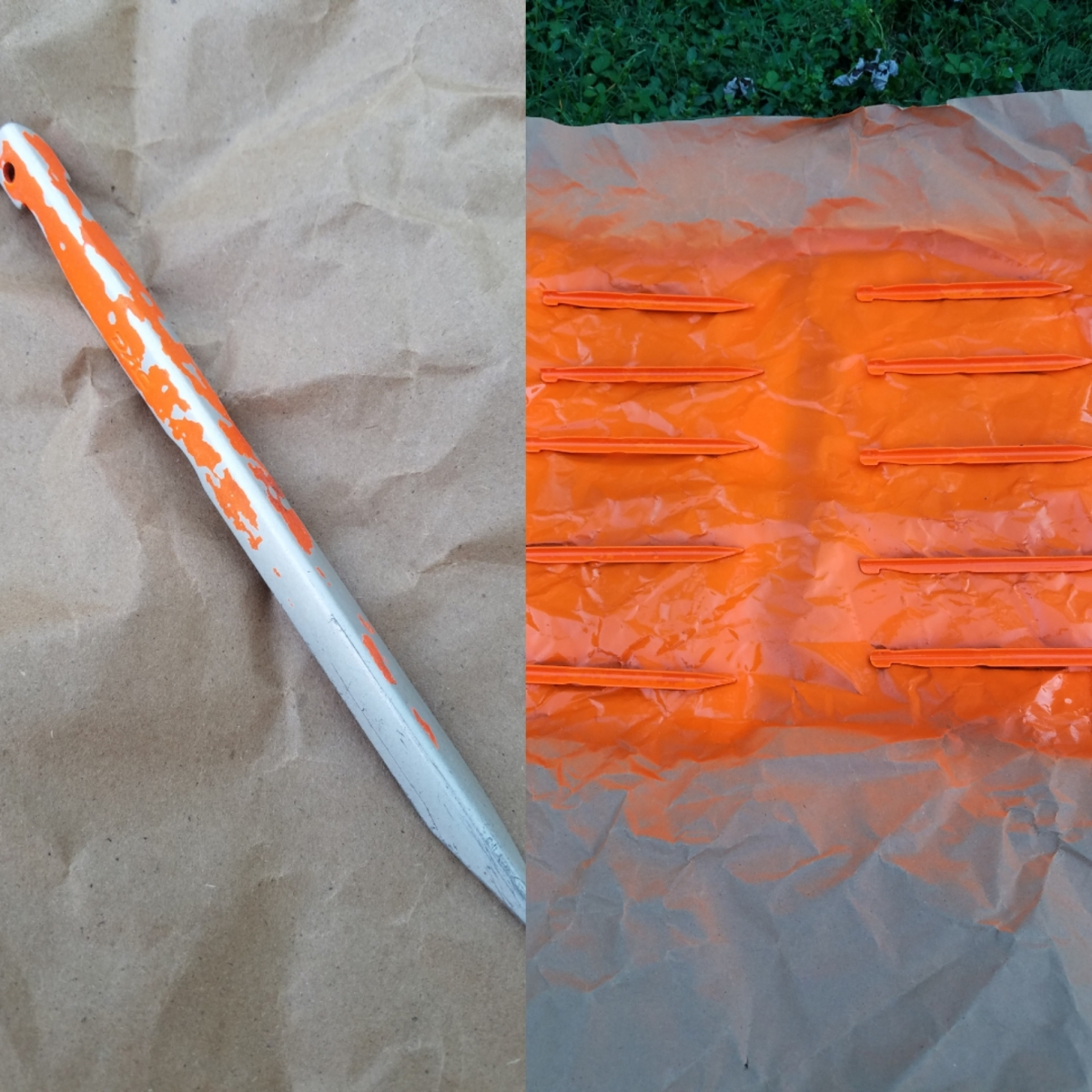 Backpacking Tip: Paint yourstakes
